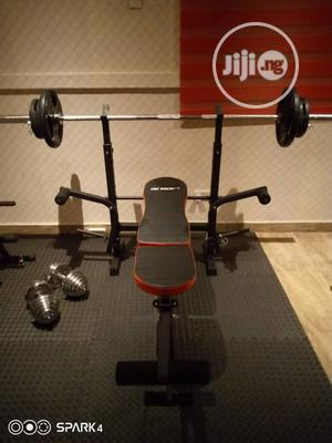 Weight Bench With 50kg Dumbell   Sports Equipment for sale in Lagos State, Surulere