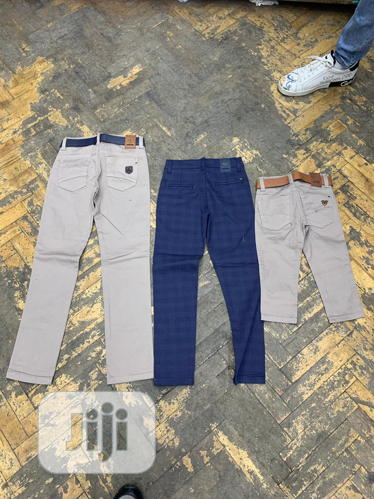 Archive: Cream Color Jeans And Blue Jeans
