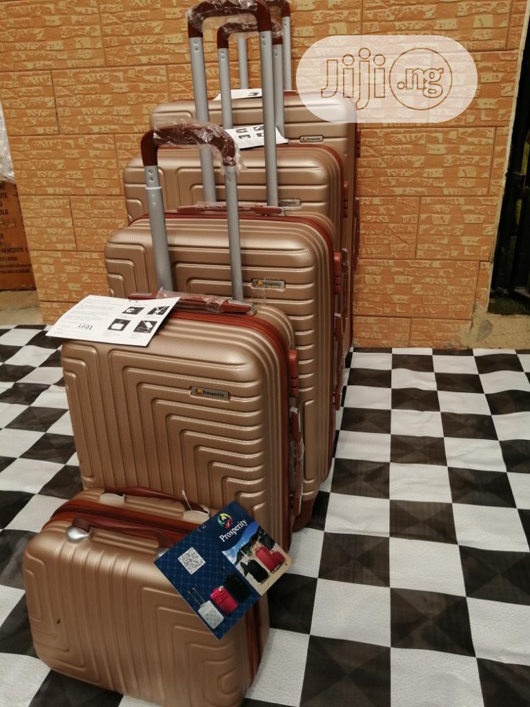 Brown Luggage Traveling Bag - 5 Sets