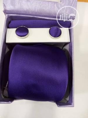 Set Of Purple Designers Corporate Tie With Cufflinks   Clothing Accessories for sale in Lagos State, Victoria Island