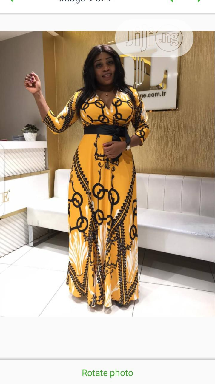 Classic Female Turkey Designer Long Flare Gown | Clothing for sale in Amuwo-Odofin, Lagos State, Nigeria