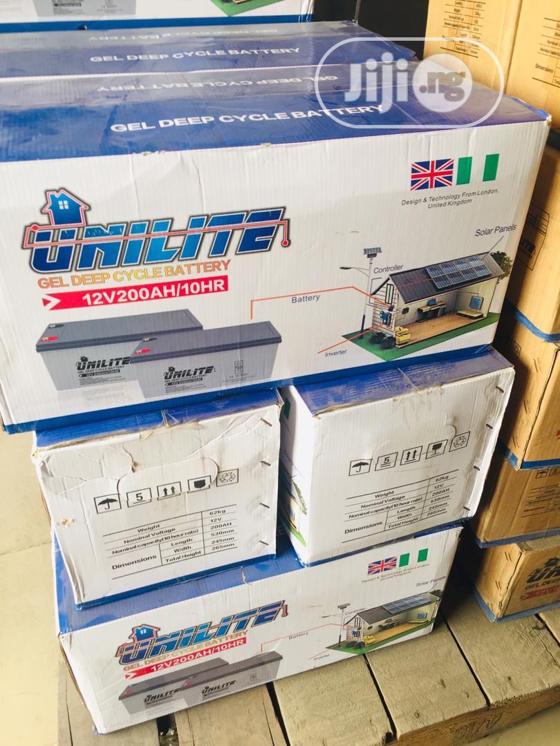 UNILITE Solar Battery 12v / 200ah | Solar Energy for sale in Ojo, Lagos State, Nigeria