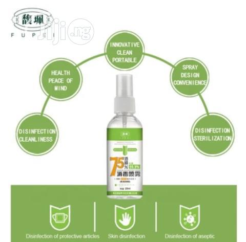 75% Alcohol Hand Sanitizer 100ml - Alcohol Spray Bottle   Skin Care for sale in Ikeja, Lagos State, Nigeria