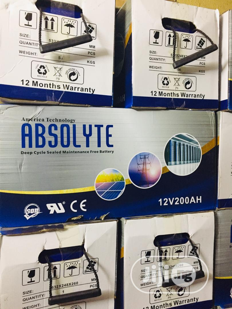 ABSOLYTE SOLAR BATTERY 12v / 200ah