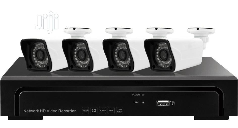 4CH NVR With 2.0 Megapixel POE 4 Bullet IP Cameras Complete KIT
