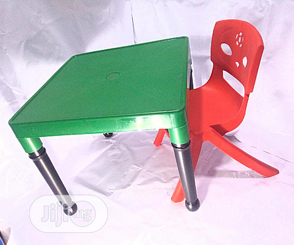 Kids Plastic Strong Table And Chair   Children's Furniture for sale in Yaba, Lagos State, Nigeria
