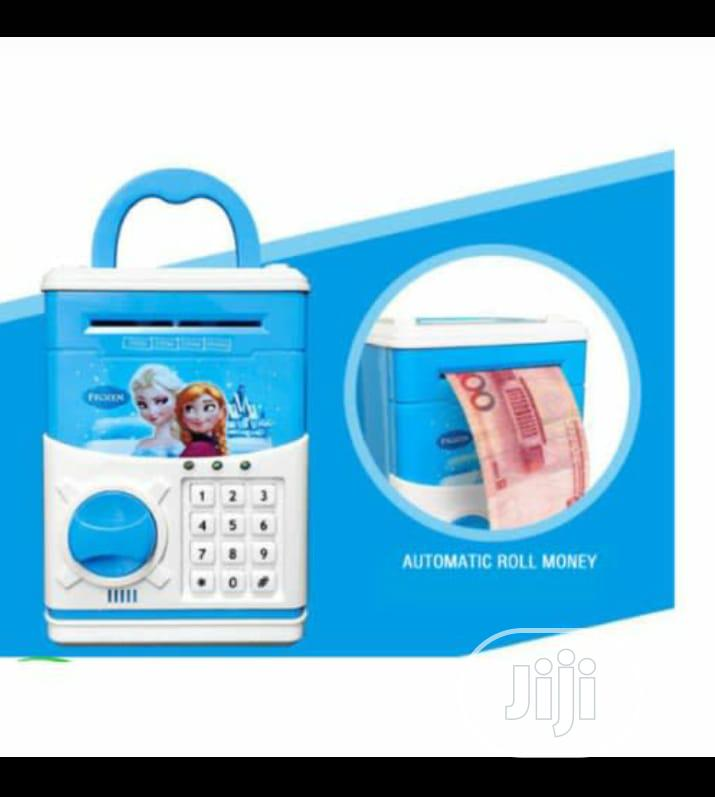 Electronic ATM Piggy Bank Money Safe Box For Kids - Blue