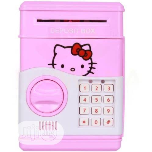 Electronic Atm Piggy Bank Money Safe Box for Kids - Pink