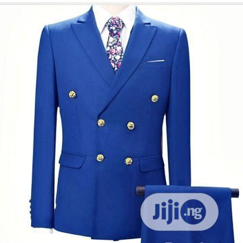 Royal Blue Men's Suit, Double Breasted | Clothing for sale in Ikorodu, Lagos State, Nigeria