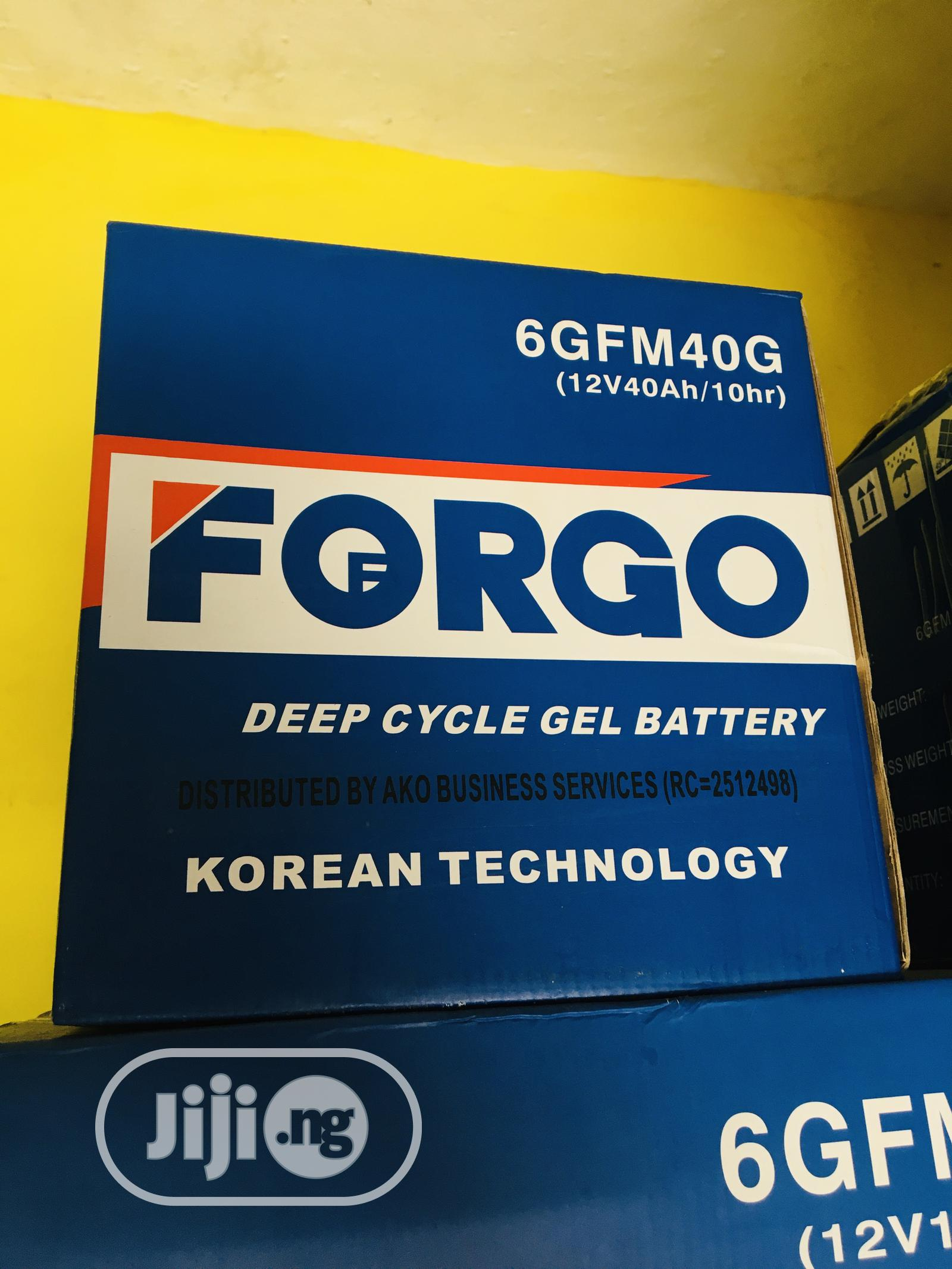 40ah 12v Forgo Battery Available With 1yr Warranty