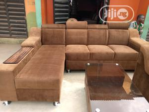 Brown L-Shape Chair | Furniture for sale in Lagos State, Agege