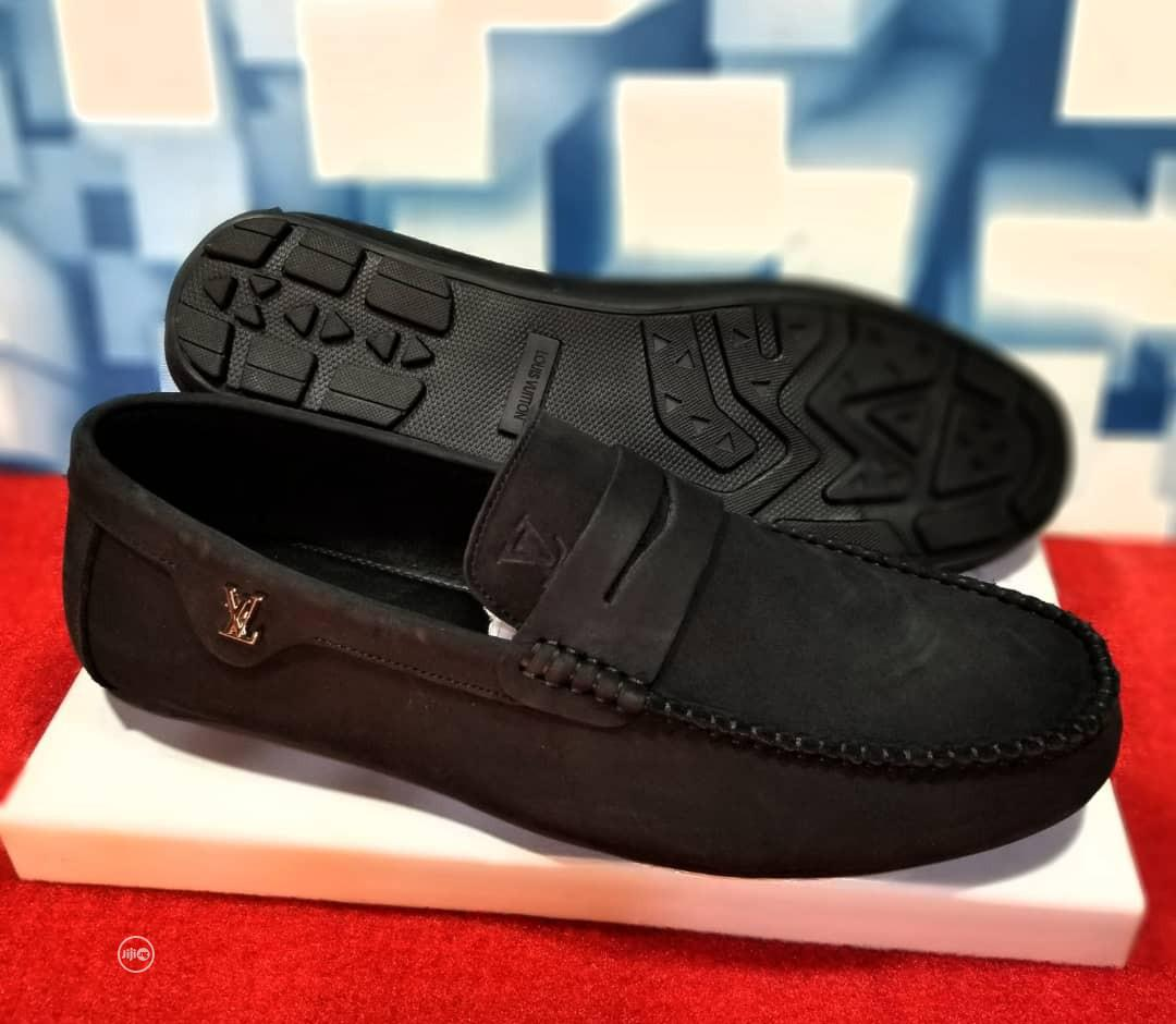 Quality Men's Louis Vuitton Designers Loafer Shoes in Black | Shoes for sale in Victoria Island, Lagos State, Nigeria