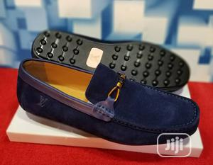 Quality Men's Louis Vuitton Designers Suede Loafer Shoes in Blue   Shoes for sale in Lagos State, Lekki