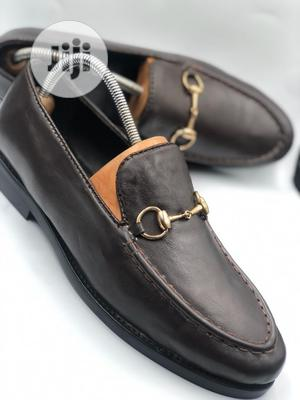 Brown Leather Loafers With Gold Chain   Shoes for sale in Lagos State, Mushin