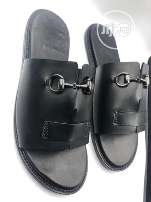 Black Cover Palm With Silver Chain   Shoes for sale in Lagos State, Mushin