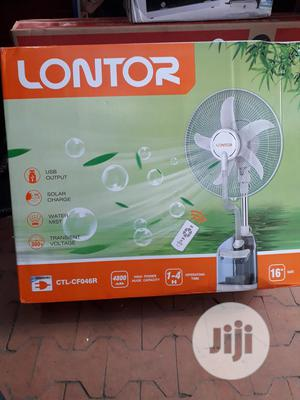 Lontor 16 - Inch Rechargeable Water Mist Fan - White | Home Appliances for sale in Lagos State, Ikeja