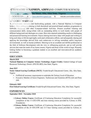 Farming & Veterinary CV | Farming & Veterinary CVs for sale in Oyo State, Ibadan