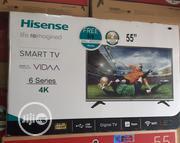 "Standard Quality 55"" HISENSE 4k Smart Digital TV With Warranty | TV & DVD Equipment for sale in Lagos State, Ojo"