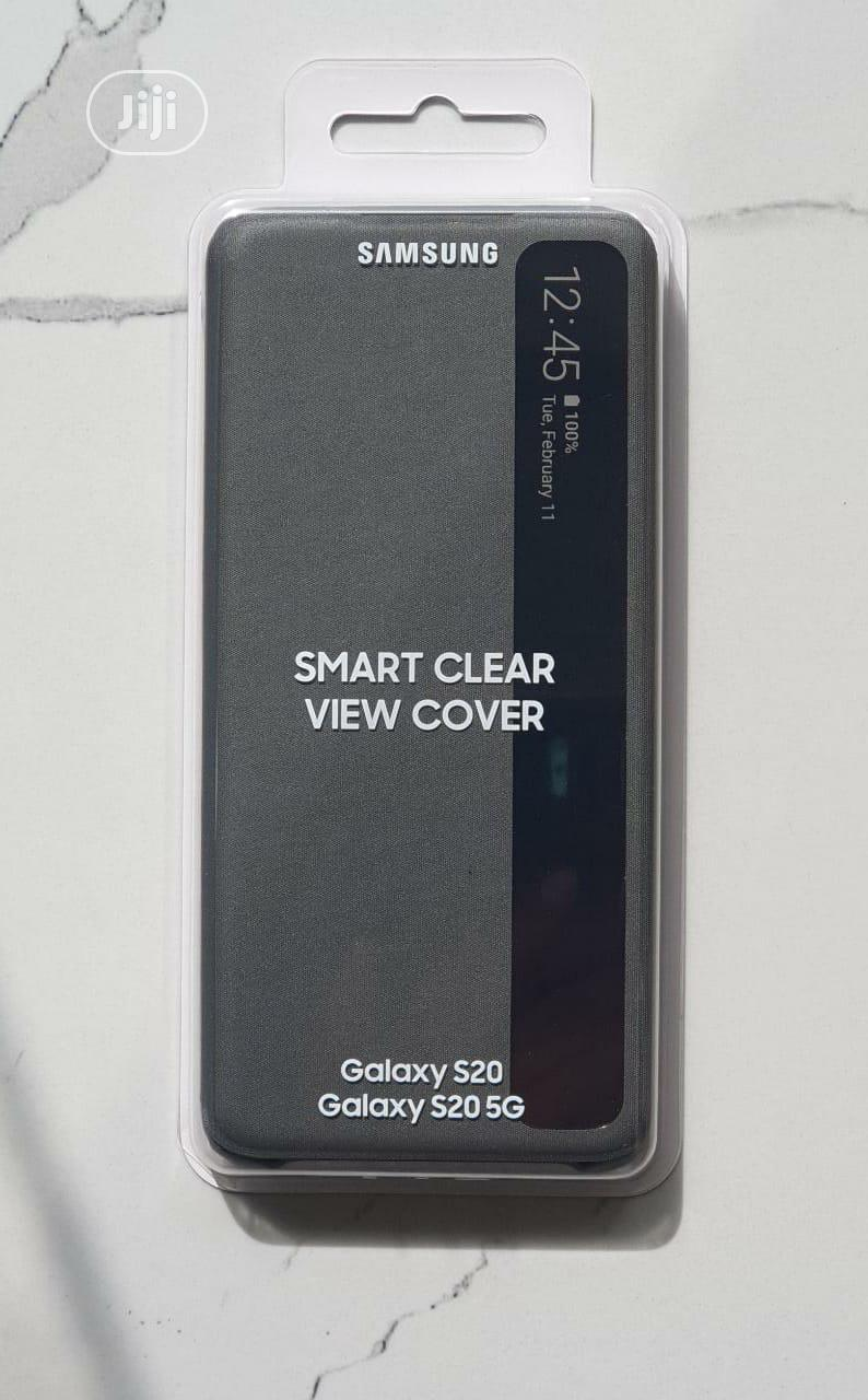 Galaxy S20 Clear-view Smart Case | Accessories for Mobile Phones & Tablets for sale in Ikeja, Lagos State, Nigeria