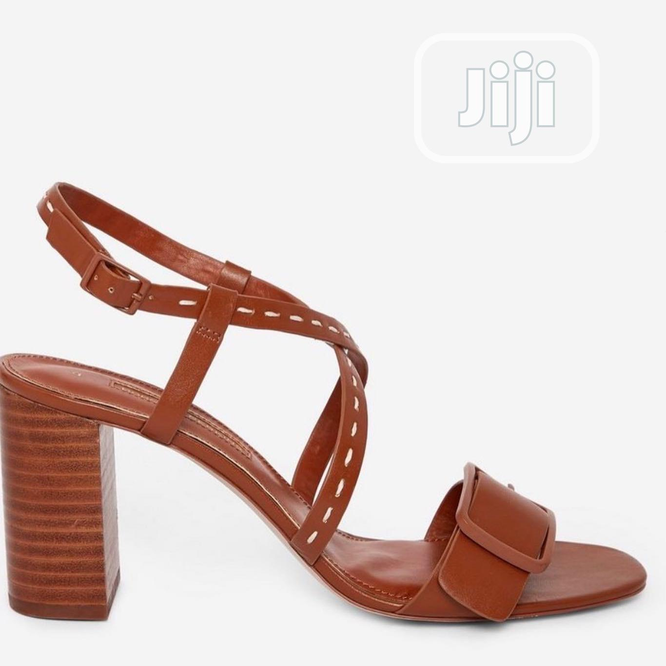 Brown Heeled Sandals | Shoes for sale in Lekki, Lagos State, Nigeria