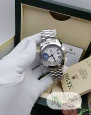Silver Chain Rolex Daydate,White Dail With Roman Figure | Watches for sale in Lagos State, Lagos Island