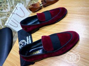 Wine Velvet Belgian Loafers   Shoes for sale in Lagos State, Mushin