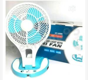 Rechargeable Portable Mini Fan With Led Light | Home Appliances for sale in Lagos State, Abule Egba