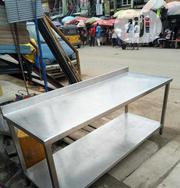 Working Table With Back 6ft 2 Inch Lenght Stainless | Restaurant & Catering Equipment for sale in Lagos State, Ojo