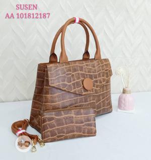 Susen Brown Leather Female Handbag   Bags for sale in Lagos State, Amuwo-Odofin