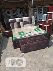 (6×6) Padded Bedframe With Orthopedic Spring Mattress   Furniture for sale in Lagos State, Ojo