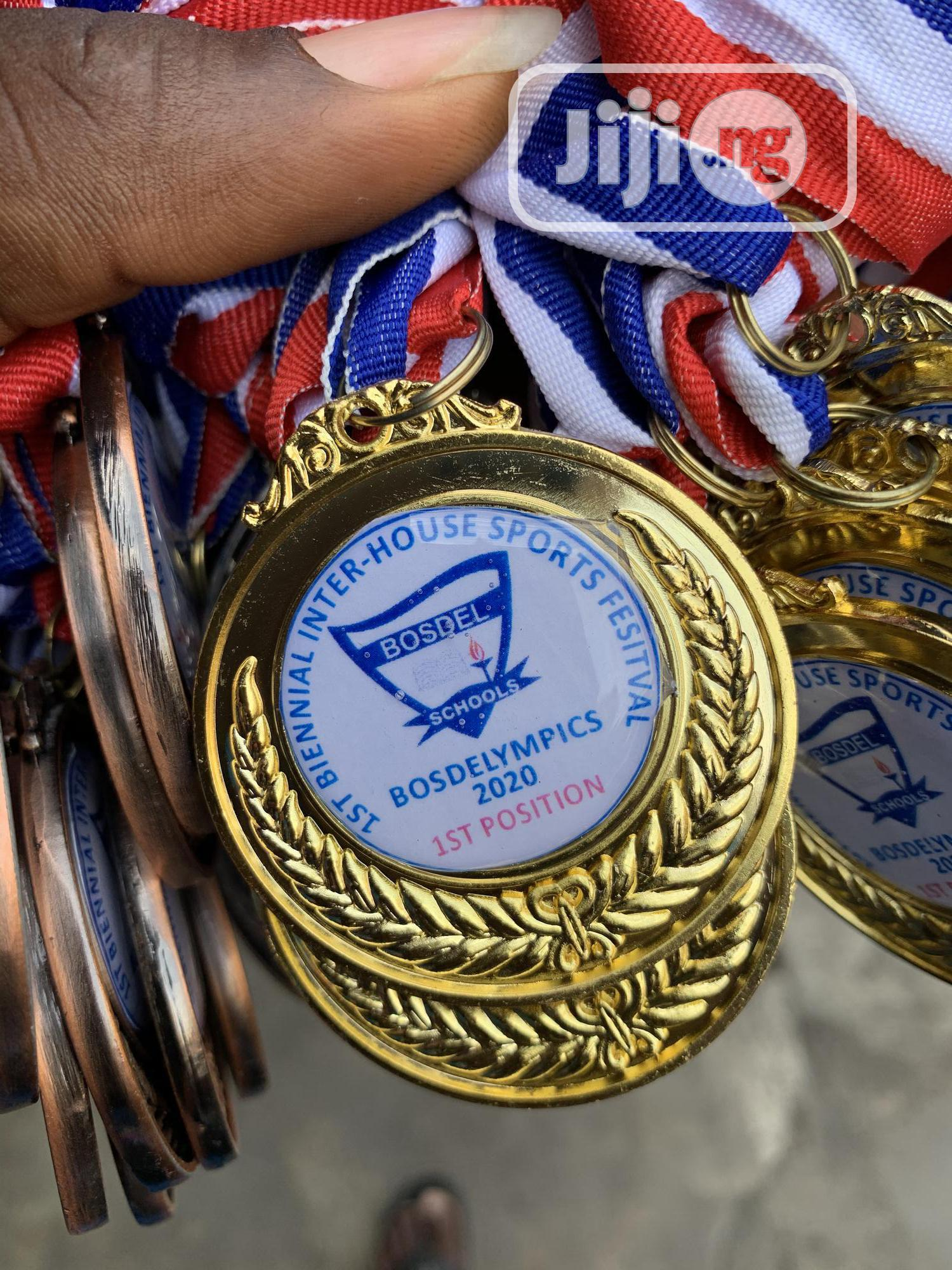 Gold Medal With Printing