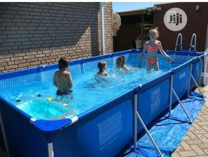 4.5m X 2.2m X 0.84m Rectangular Frame Swimming Pool With Ladder | Sports Equipment for sale in Lagos State, Surulere