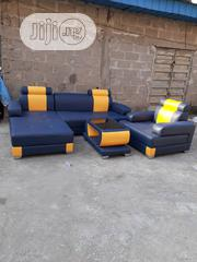 Leather L Shape Sofa With Center Table | Furniture for sale in Lagos State, Ojo