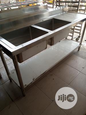 High Quality Industrial Double Sink | Restaurant & Catering Equipment for sale in Lagos State, Ojo