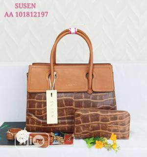 Susen Female Brown Leather Shoulder Handbag   Bags for sale in Lagos State, Amuwo-Odofin
