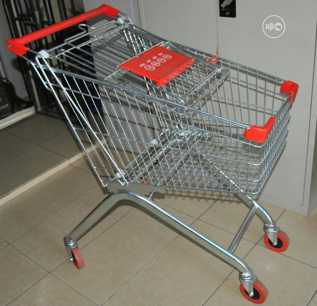 Archive: Metal Supermarket Shopping Trolley 80 Litres