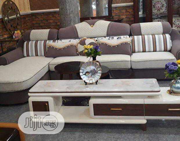 Imported L Shape Fabric Sofa