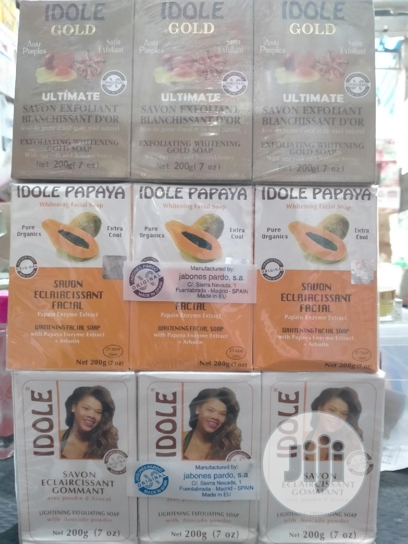 Idole Exfoliating Soap Whitening Soap Range Diff Types 3 In 1 Pack | Bath & Body for sale in Amuwo-Odofin, Lagos State, Nigeria