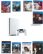 Ps4 Slim White With 10 Latest Games Installed | Video Game Consoles for sale in Lagos State, Ikeja