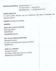 Health Awareness | Healthcare & Nursing CVs for sale in Imo State, Njaba