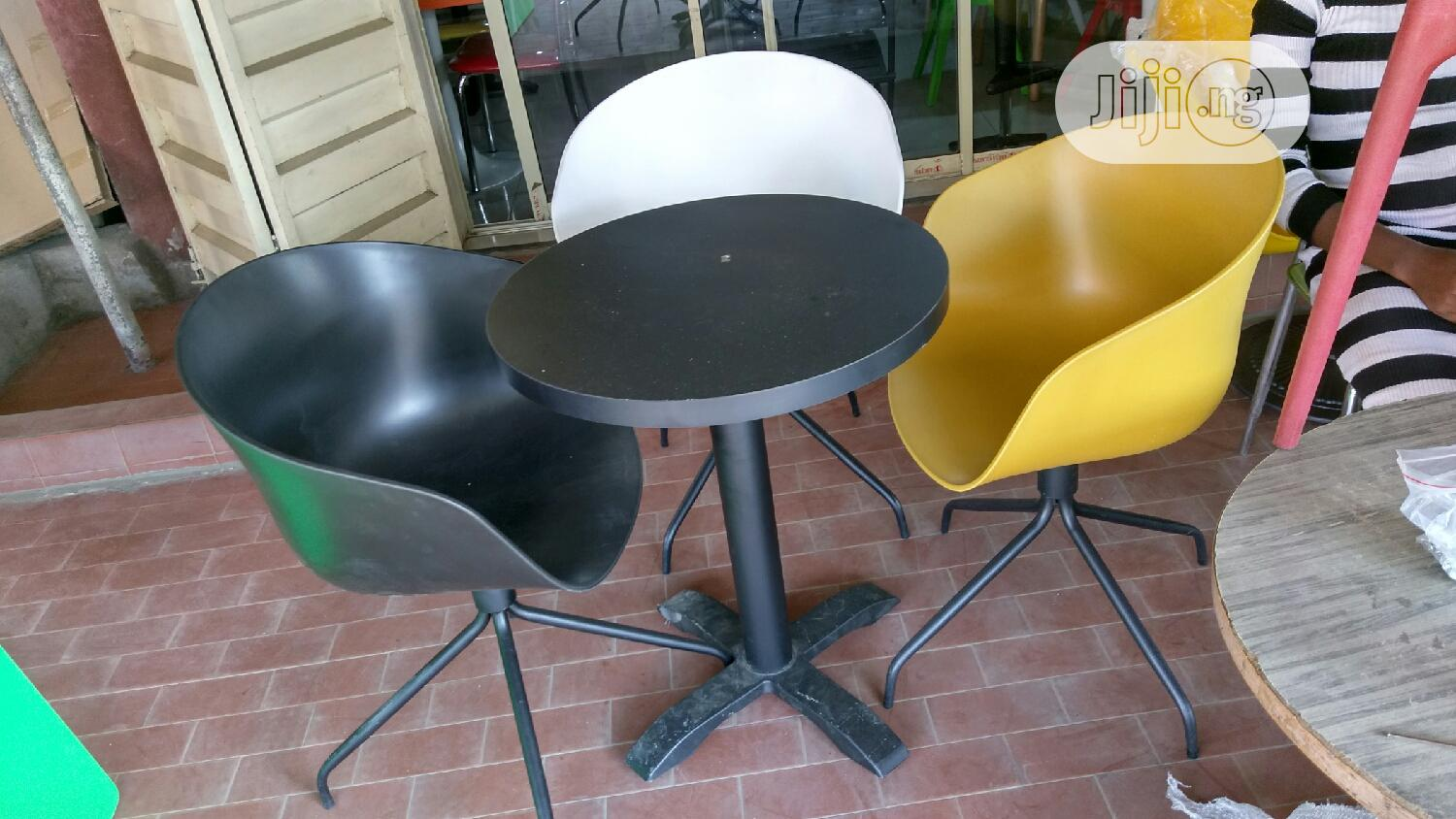 Classic Rotating Resturant Set of Chair and Table | Furniture for sale in Victoria Island, Lagos State, Nigeria