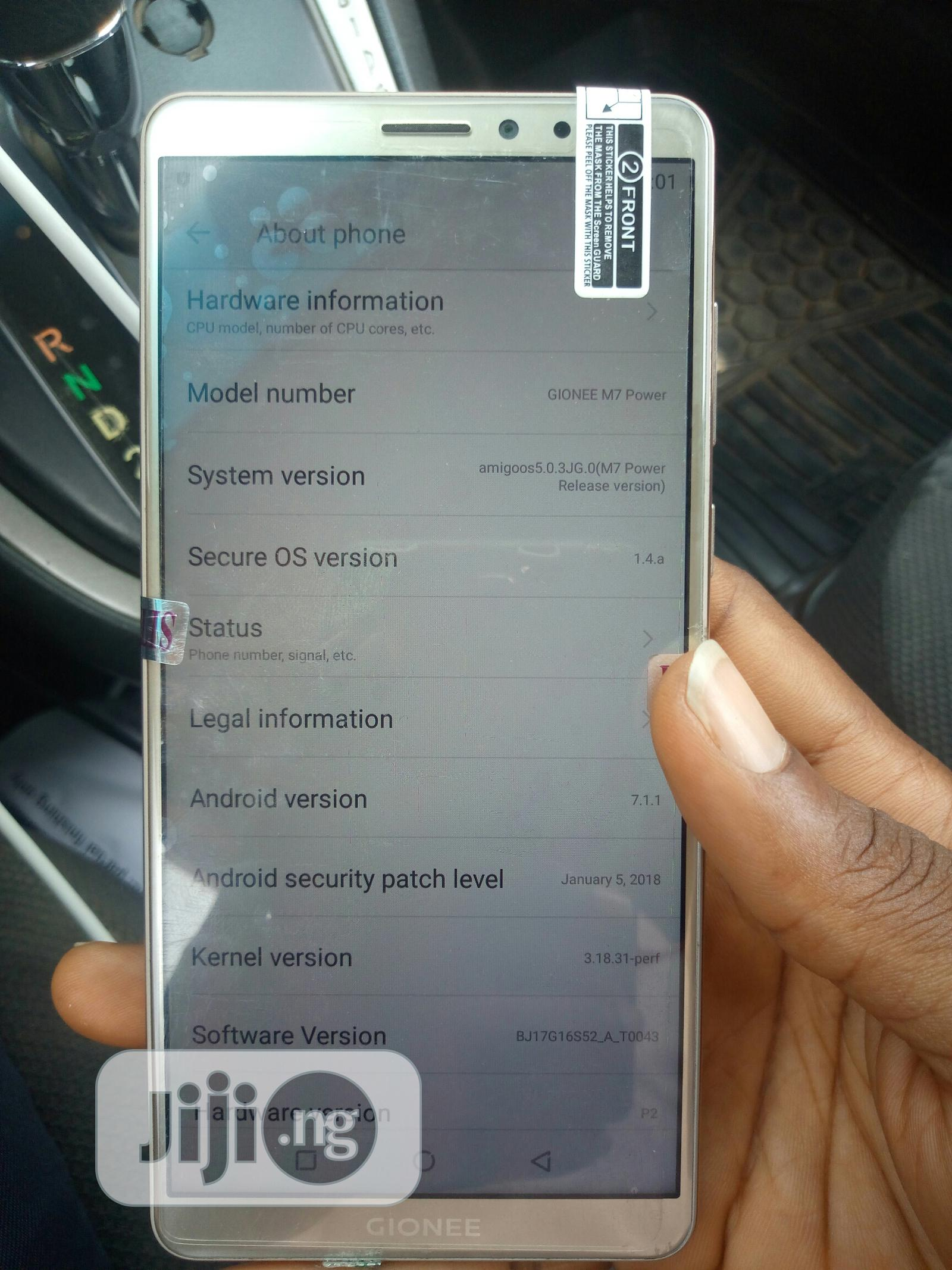 Gionee M7 Power 64 GB Gold | Mobile Phones for sale in Kubwa, Abuja (FCT) State, Nigeria