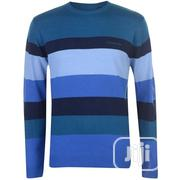 Pierre Cardin Wide Stripe Crew Knit | Clothing for sale in Lagos State, Ojodu