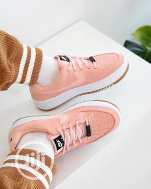 """Nike Airforce 1 Sage Low """"Coral Stardust"""" FREE DELIVERY   Shoes for sale in Lagos State, Surulere"""