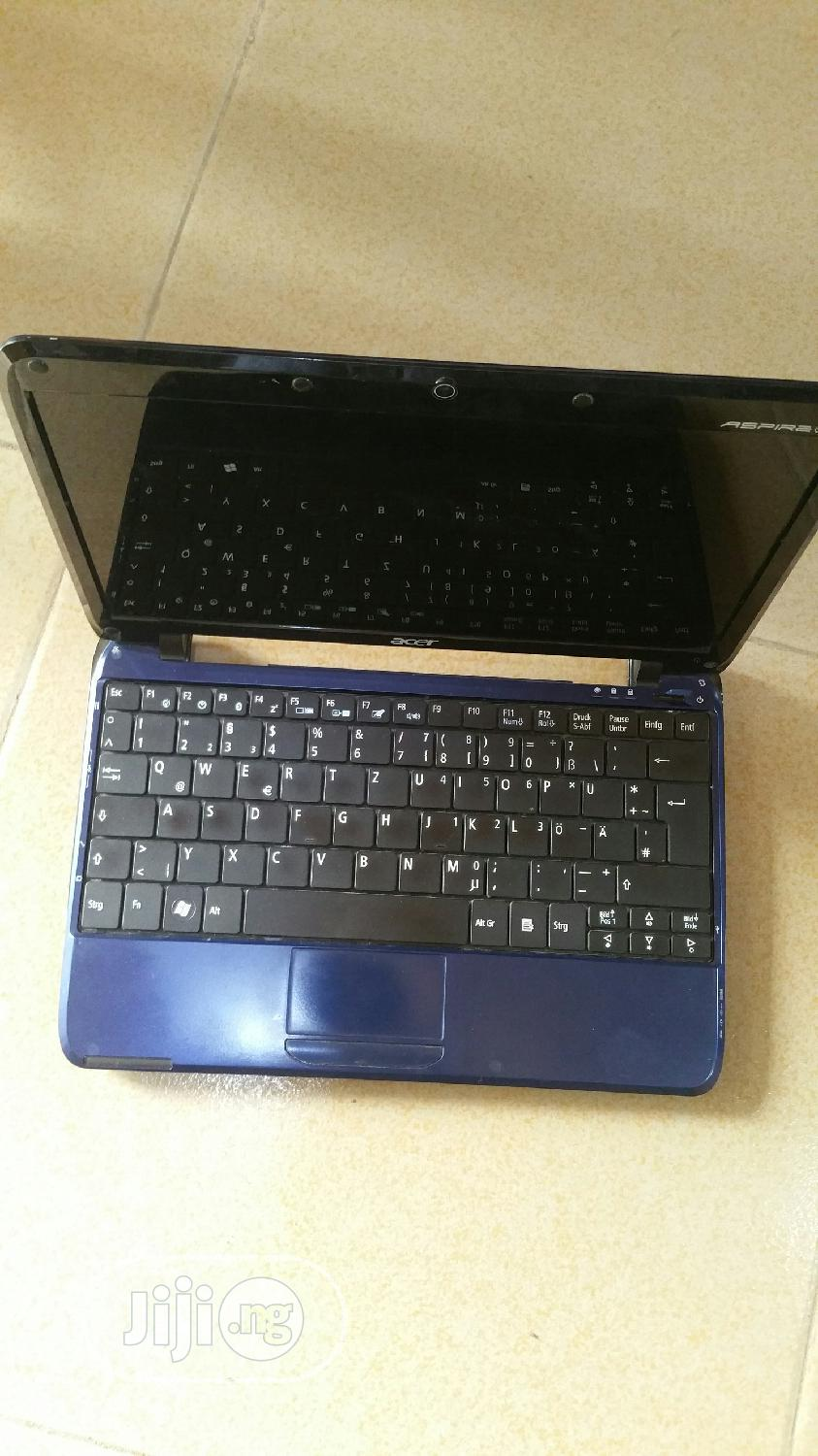 Laptop Acer Aspire 1 2GB Intel Atom HDD 160GB | Laptops & Computers for sale in Ikeja, Lagos State, Nigeria