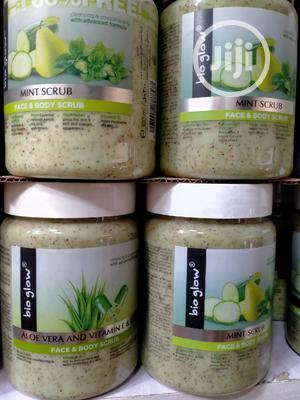 Bio Glow Aloe Vera , Vitamin E ,B5 Face and Body Scrub 500ml | Skin Care for sale in Lagos State, Amuwo-Odofin