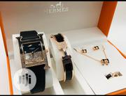 Hermes Female Wristwatch, Bracelet,Ring, Earrings & Necklace   Jewelry for sale in Lagos State, Surulere