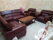 Imported Adjustable Neck Leather Sofa | Furniture for sale in Lagos State, Ikeja