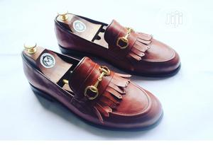 Leather Fringe Loafers With Gold Chain   Shoes for sale in Lagos State, Mushin