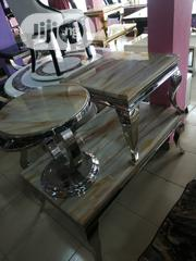 Quality Marble Center Table With Two Side Stool | Furniture for sale in Lagos State, Ikeja